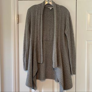 Autumn Cashmere Gray Open Cashmere Blend Cardigan